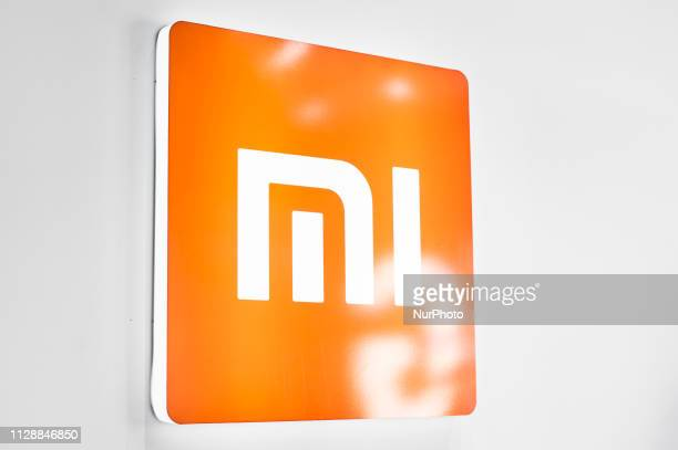Mi logo exhibited during the Mobile World Congress, on February 28, 2019 in Barcelona, Spain.
