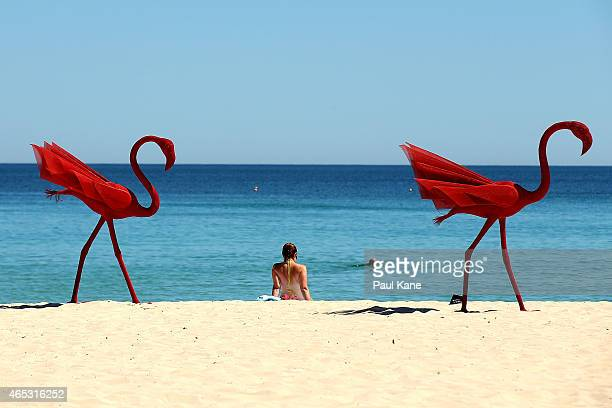 """Mi no 5"""" by artist Wendi Zhang is seen at Sculpture By The Sea at Cottesloe Beach on March 6, 2015 in Perth, Australia."""