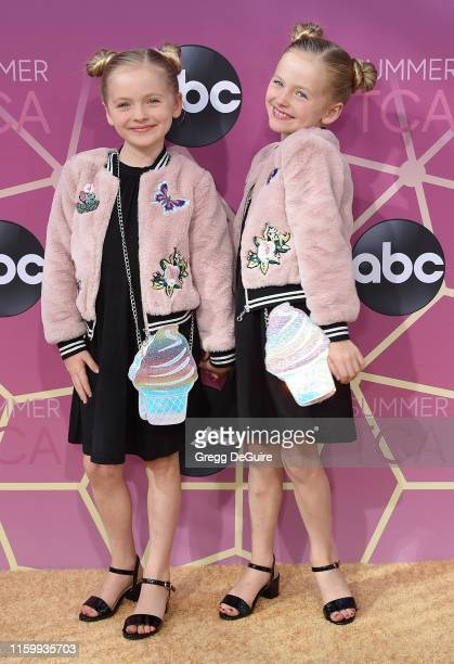 Mia Allan and Ella Allan arrive at ABC's TCA Summer Press Tour Carpet Event on August 5, 2019 in West Hollywood, California.