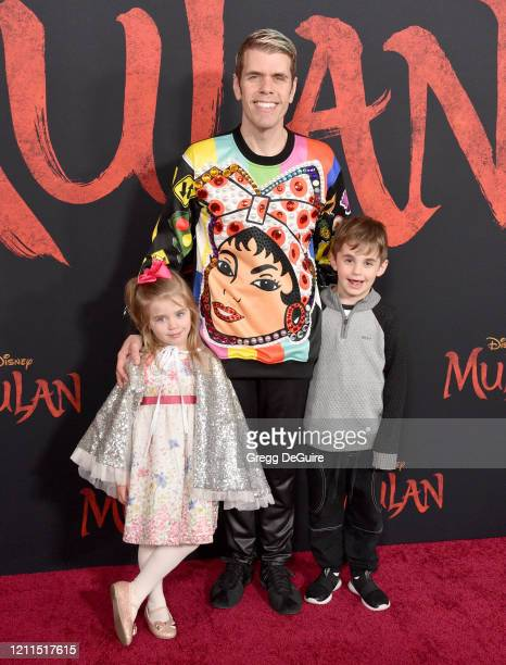 Mia Alma Lavandeira Perez Hilton and Mario Armando Lavandeira III attend the Premiere Of Disney's Mulan on March 09 2020 in Hollywood California