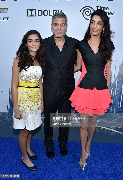 Mia Almuddin lawyer Amal Clooney and actor George Clooney attend the premiere of Disney's 'Tomorrowland' at AMC Downtown Disney 12 Theater on May 9...