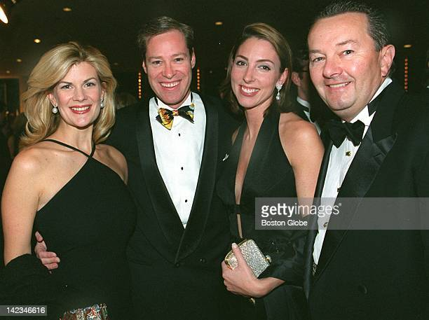 Mia and Bob Matthews of Nantucket and Martha O'Brien and George Albrecht of Boston attend the American Ireland Fund party at the Copley Marriott Hotel