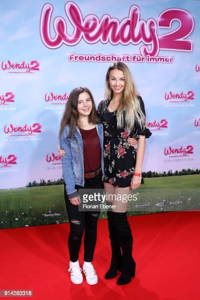 Mia and Julia Maria attend the premiere of 'Wendy 2 - Der Film' at Cinedom on February 4, 2018 in Cologne, Germany.
