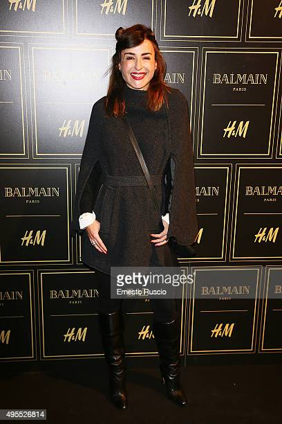Mia Benedetta attends Balmain For HM Collection Preview Photocall on November 3 2015 in Rome Italy