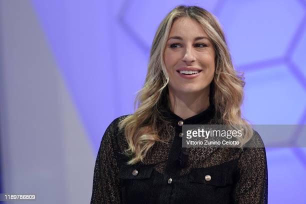 Mia Ceran attends Quelli Che Il Calcio TV Show on November 24 2019 in Milan Italy