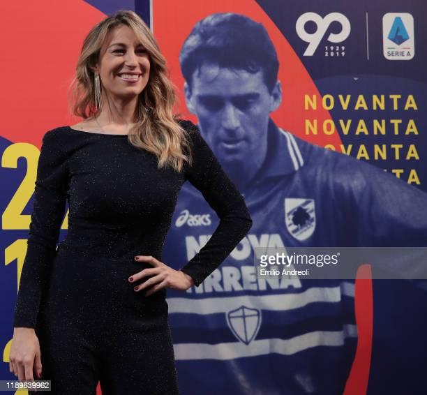 Mia Ceran attends the Il Campionato Fa 90 Tv Show on December 19 2019 in Milan Italy