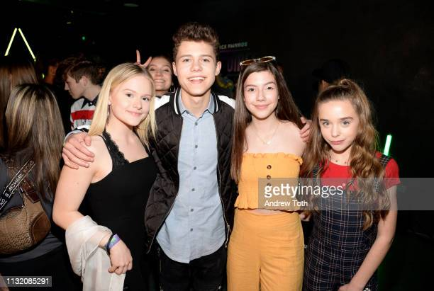 Mia Dinoto Case Walker Sissy Sheridan and Jenna Davis attend the 2019 Nickelodeon Kids' Choice Awards Slime Soiree on March 22 2019 in Venice...