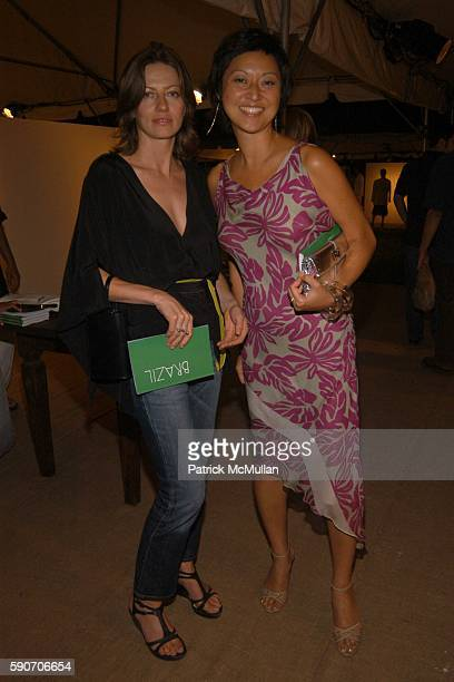 Mia Enell and Christine Y Kim attend The Watermill Summer Benefit BRAZIL at The Watermill Center on July 30 2005 in Water Mill NY
