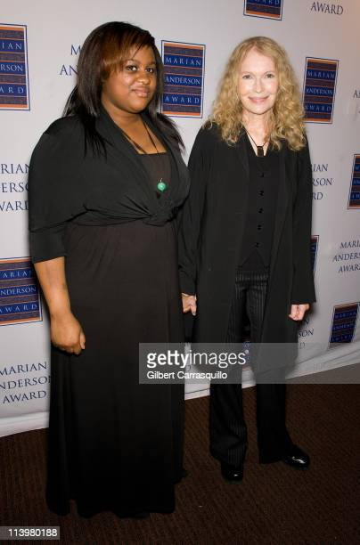 Mia Farrow and daughter Quincy Farrow attend the 2011 Marian Anderson award gala honoring Mia Farrow at the Kimmel Center for the Performing Arts on...