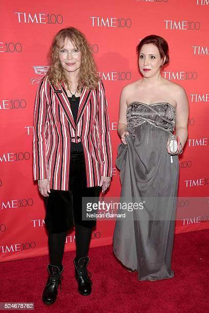 Mia Farrow and Dylan Farrow attend the 2016 Time 100 Gala at Frederick P Rose Hall Jazz at Lincoln Center on April 26 2016 in New York City