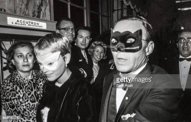 Mia Farrow and Frank Sinatra at Truman Capote BW Ball on November 28 1966 in New York New York