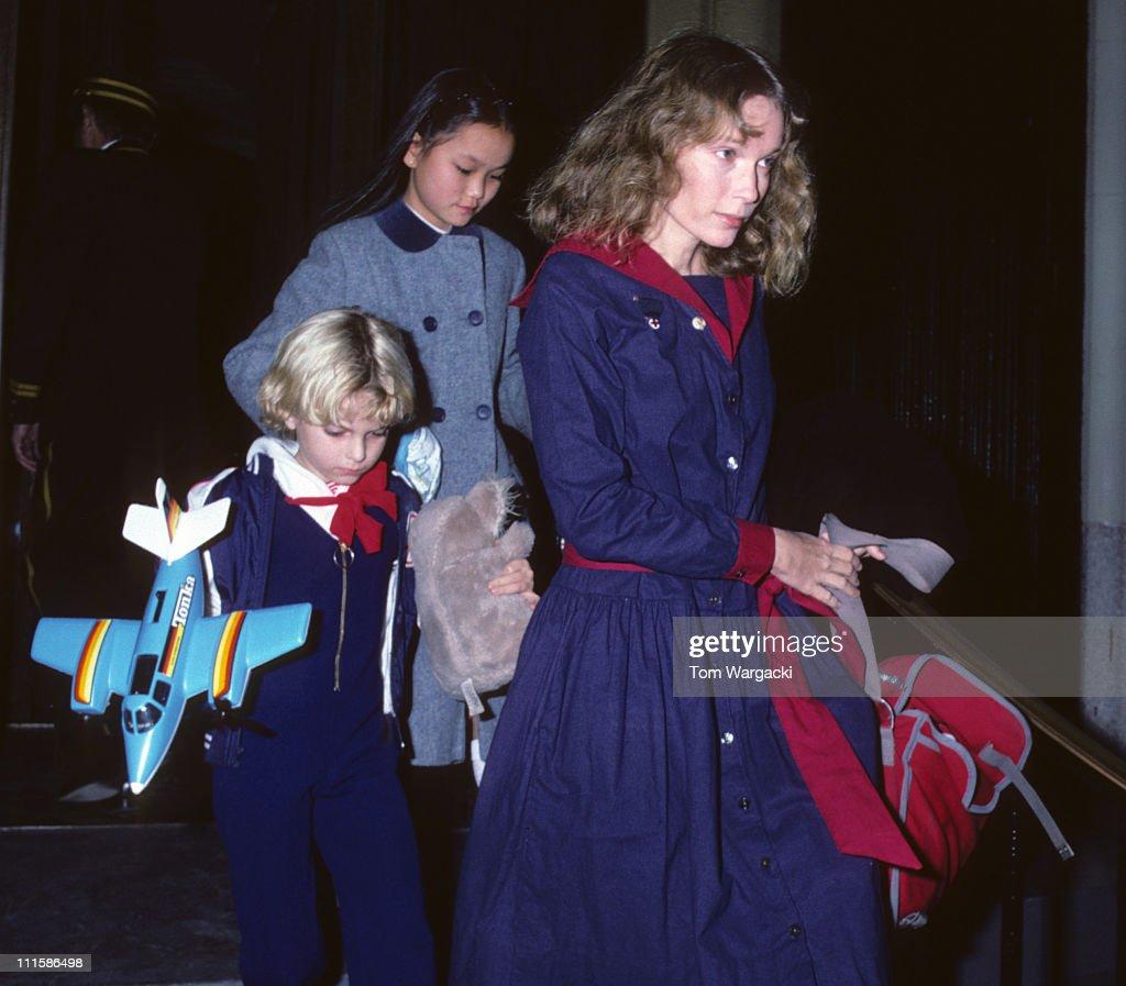 Mia Farrow Sighting in New York - November 21, 1981 : News Photo