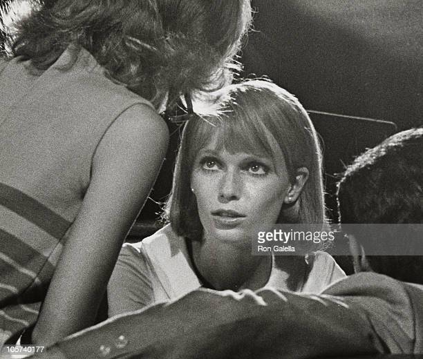 Mia Farrow and John Cassevettes during On Location for 'Rosemary's Baby' August 26 1967 at New York City in New York City New York United States