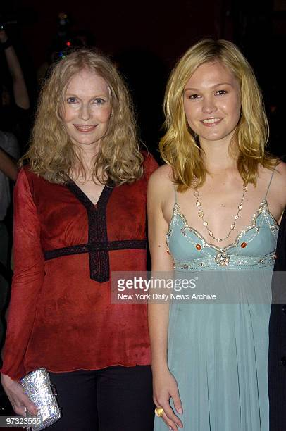 "Mia Farrow and Julia Stiles attend an advance screening of ""The Omen"" at the Angel Orensanz Foundation in lower Manhattan. They star in the film."