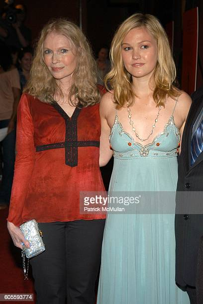 Mia Farrow and Julia Stiles attend THE CINEMA SOCIETY & DKNY JEANS present a special screening of THE OMEN at Angel Orensanz Foundation on May 31,...