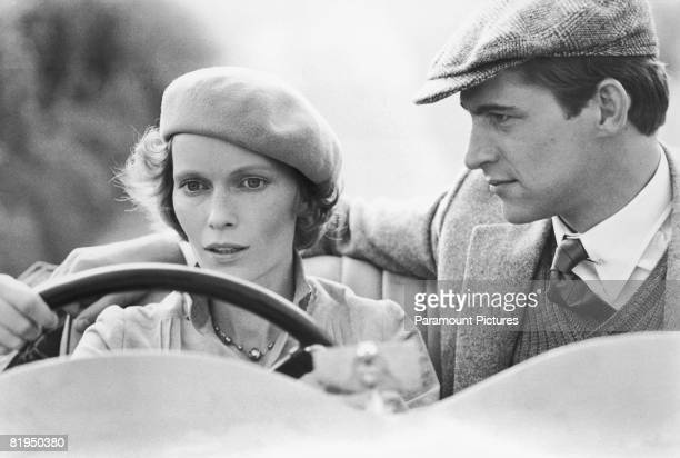 Mia Farrow as Jacqueline De Bellefort and Simon MacCorkindale as Simon Doyle in a scene from the 1978 film version of Agatha Christie's thriller...