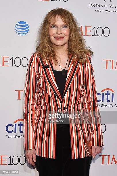Mia Farrow attends 2016 Time 100 Gala Time's Most Influential People In The World at Jazz At Lincoln Center at the Times Warner Center on April 26...