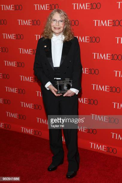 Mia Farrow attends the 2018 Time 100 Gala at Frederick P Rose Hall Jazz at Lincoln Center on April 24 2018 in New York City