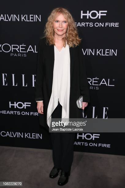 Mia Farrow attends the 25th Annual ELLE Women in Hollywood Celebration at Four Seasons Hotel Los Angeles at Beverly Hills on October 15 2018 in Los...