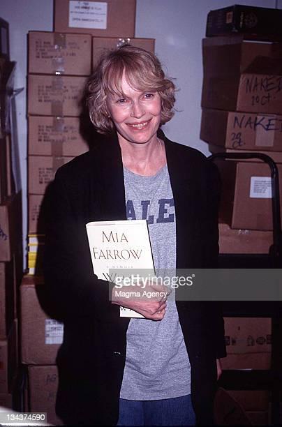 Mia Farrow during Mia Farrow at Barnes and Noble - 1997 at Barnes and Noble in New York City, New York, United States.