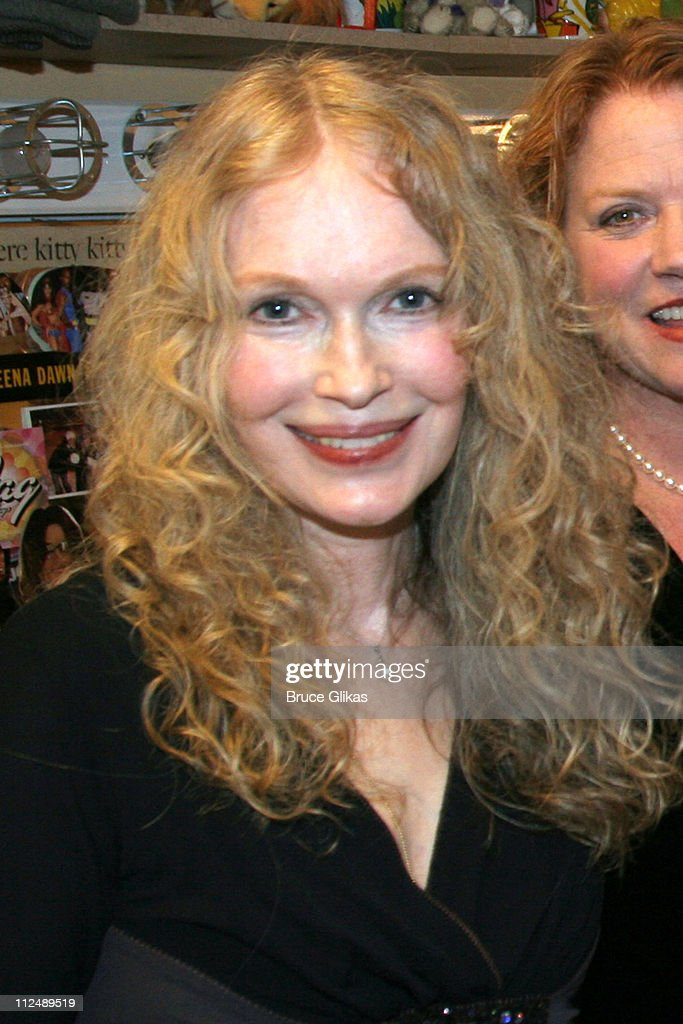 Mia Farrow during The All-Star Stephen Sondheim 75th Birthday Celebration 'Children and Art' - Inside at Broadway's New Amsterdam Theatre in New York City, New York, United States.