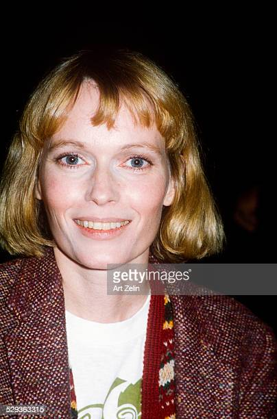 Mia Farrow in a tweed jacket circa 1970 New York
