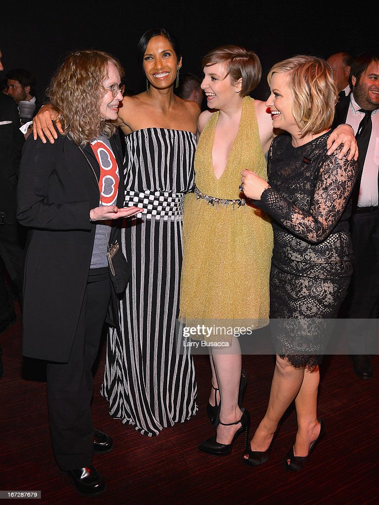Mia Farrow, Padma Lakshmi, Lena Dunham, and Amy Poehler attend the TIME 100 Gala, TIME'S 100 Most Influential People In The World reception at Jazz at Lincoln Center on April 23, 2013 in New York City.