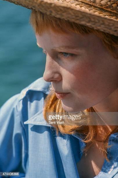 Mia Farrow posing for a portrait on June 10 1969 in Hamilton Bermuda