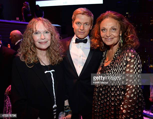 Mia Farrow Ronan Farrow and Diane von Furstenberg attend TIME 100 Gala TIME's 100 Most Influential People In The World at Jazz at Lincoln Center on...