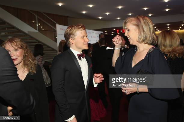 Mia Farrow, Ronan Farrow, and Nancy Gibbs attend the 2017 Time 100 Gala at Jazz at Lincoln Center on April 25, 2017 in New York City.