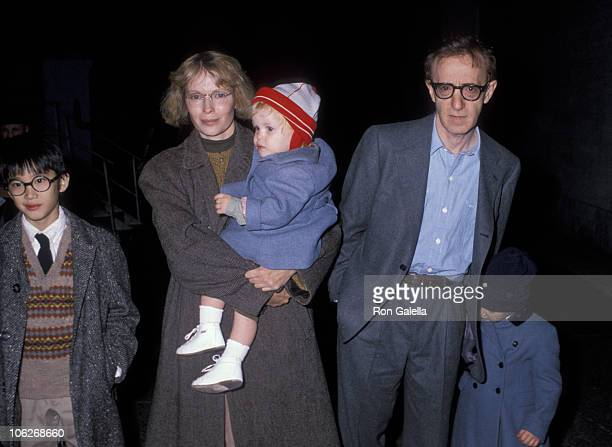 Mia Farrow Woody Allen and their children during The Big Apple Circus November 3 1989 in New York City New York United States