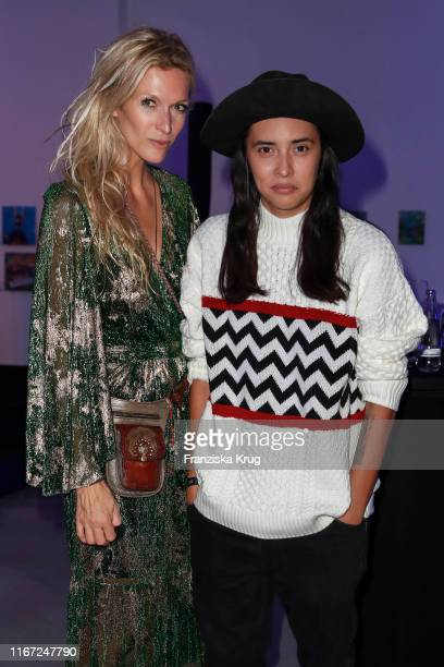 Mia Florentine Weiss and Diana Kinnert during the Montblanc de la Culture Arts Patronage Award 2019 at Kuenstlerhaus Bethanien on September 10 2019...