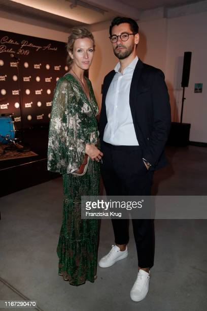 Mia Florentine Weiss and Elvir Johic during the Montblanc de la Culture Arts Patronage Award 2019 at Kuenstlerhaus Bethanien on September 10 2019 in...