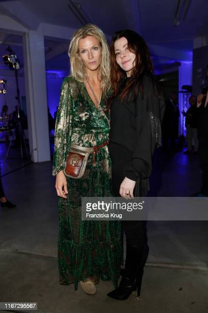 Mia Florentine Weiss and Yasha Young during the Montblanc de la Culture Arts Patronage Award 2019 at Kuenstlerhaus Bethanien on September 10 2019 in...