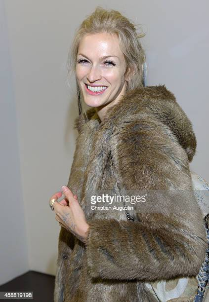 Mia Florentine Weiss attends In Between Exhibition Opening at Roedingsmarkt 9 on November 11 2014 in Hamburg Germany