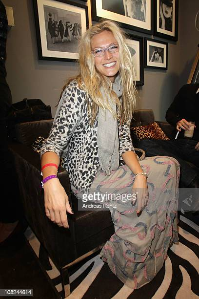 Mia Florentine Weiss attends the Gala Fashion Brunch during the Mercedes Benz Fashion Week Autumn/Winter 2011 at Marriot Hotel on January 22, 2011 in...