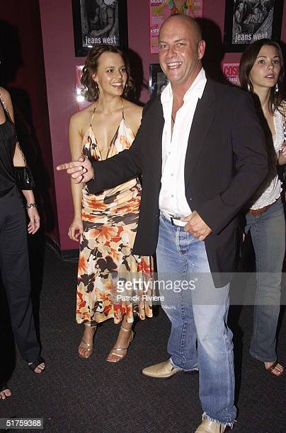Mia Freedman and Peter Morrissey at the 3rd Annual Christmas Party for Cosmopolitan Magazine held at The Pure Platinum Club in Sydney