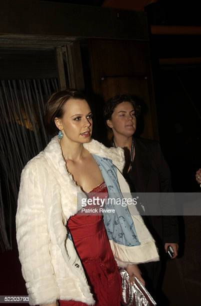 2 MAY 2004 Mia Freedman at the Mercedes Australian Fashion Week official opening night at the Opera House Sydney Australia