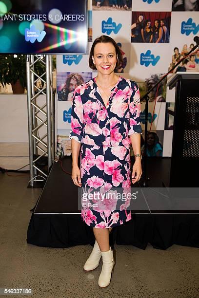 Mia Freedman attends the Screen Australia 'Gender Matters' recipients announcement on July 12 2016 in Sydney Australia