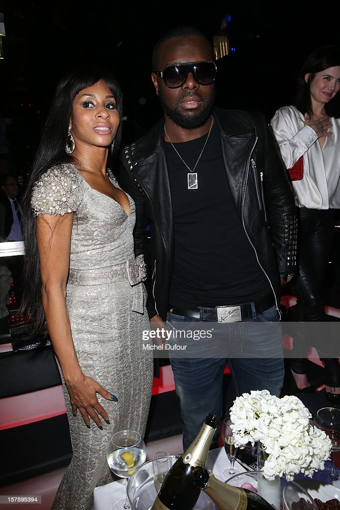 Mia Frye and Maitre Gims attend jeweler Edouard Nahum's 'Maya' collection launch cocktail party at La Gioia on December 4, 2012 in Paris, France.