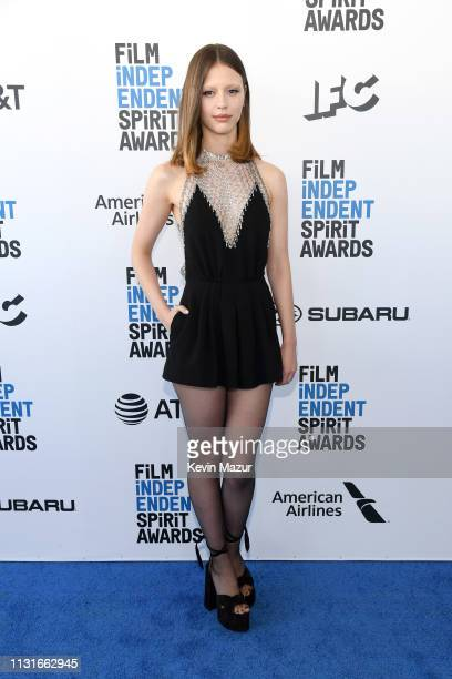 Mia Goth attends the 2019 Film Independent Spirit Awards on February 23 2019 in Santa Monica California