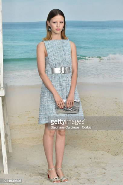 Mia Goth attends the Chanel show as part of the Paris Fashion Week Womenswear Spring/Summer 2019 on October 2 2018 in Paris France