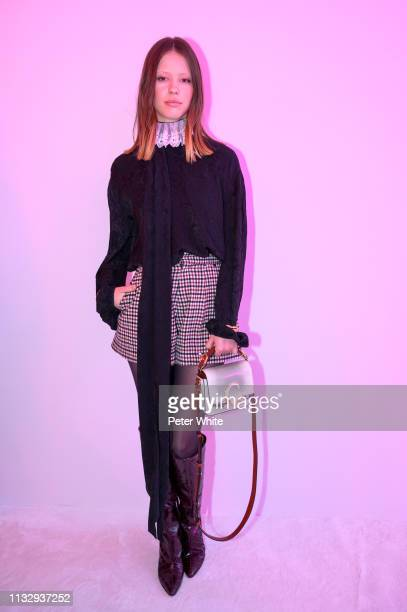 Mia Goth attends the Chloe show as part of the Paris Fashion Week Womenswear Fall/Winter 2019/2020 on February 28 2019 in Paris France