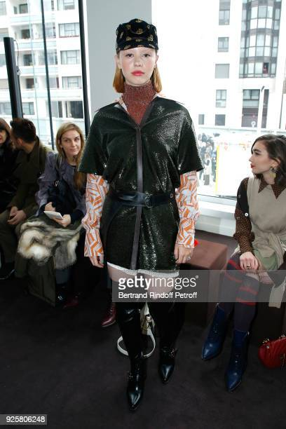 Mia Goth attends the Chloe show as part of the Paris Fashion Week Womenswear Fall/Winter 2018/2019 on March 1 2018 in Paris France