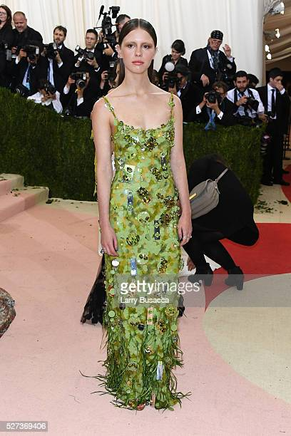 """Mia Goth attends the """"Manus x Machina: Fashion In An Age Of Technology"""" Costume Institute Gala at Metropolitan Museum of Art on May 2, 2016 in New..."""