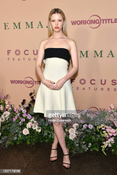 Mia Goth attends the premiere of Focus Features' Emma at DGA Theater on February 18 2020 in Los Angeles California