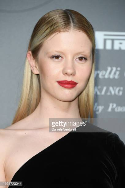 Mia Goth attends the presentation of the Pirelli 2020 Calendar Looking For Juliet at Teatro Filarmonico on December 03 2019 in Verona Italy