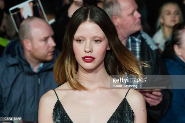 Mia Goth attends the UK film premiere of 'Suspiria' at Cineworld, Leicester Square, during the 62nd London Film Festival Headline Gala. October 16,...