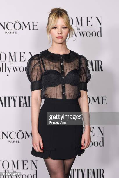 Mia Goth attends the Vanity Fair and Lancôme Women in Hollywood celebration at Soho House on February 06, 2020 in West Hollywood, California.