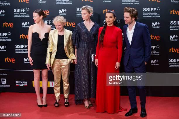 Mia Goth Claire Denis Agata Buzek Juliette Binoche and Robert Pattinson attends the 'High Life' premiere during the 66th San Sebastian International...